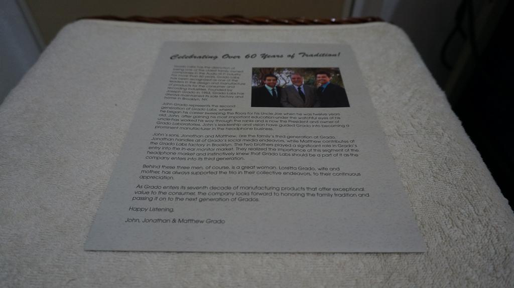 Grado SR225i personalized letter